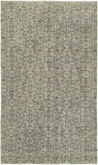 "Over-dyed Vintage Hand-knotted Turkish Rug - 5' 2"" x 8' 8"" (62 in. x 104 in.)"