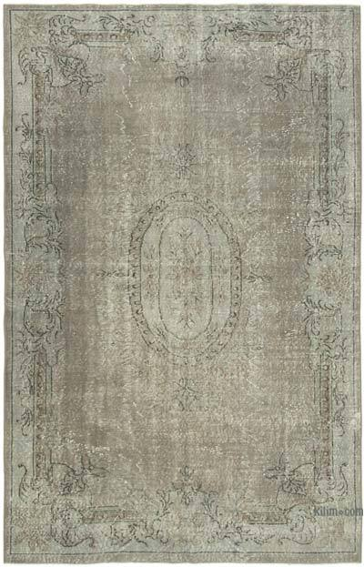 """Over-dyed Vintage Hand-knotted Turkish Rug - 5' 9"""" x 8' 10"""" (69 in. x 106 in.)"""