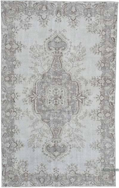 "Over-dyed Vintage Hand-knotted Turkish Rug - 5' 6"" x 8' 11"" (66 in. x 107 in.)"