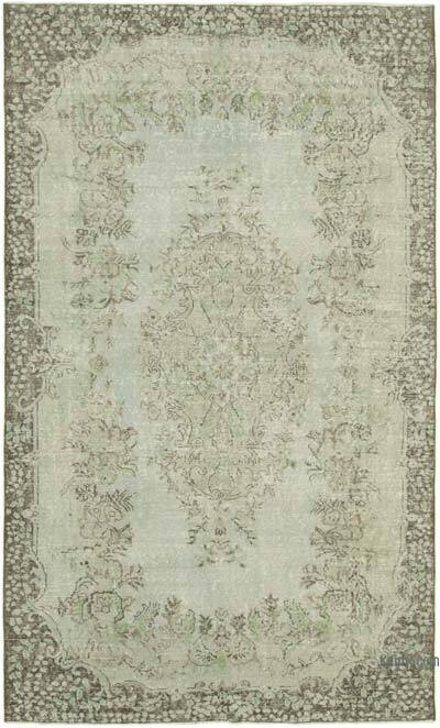 "Grey Over-dyed Vintage Hand-knotted Turkish Rug - 5' 10"" x 9' 6"" (70 in. x 114 in.)"