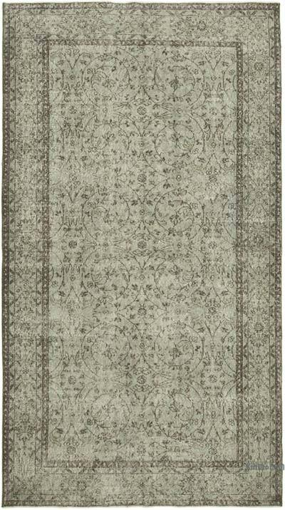 """Over-dyed Vintage Hand-knotted Turkish Rug - 5' 4"""" x 9' 6"""" (64 in. x 114 in.)"""