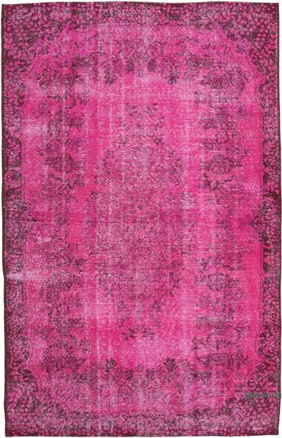 "Over-dyed Vintage Hand-knotted Turkish Rug - 5' 11"" x 9'  (71 in. x 108 in.)"