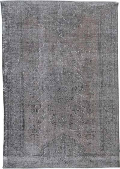 "Over-dyed Vintage Hand-knotted Turkish Rug - 6' 4"" x 9' 2"" (76 in. x 110 in.)"
