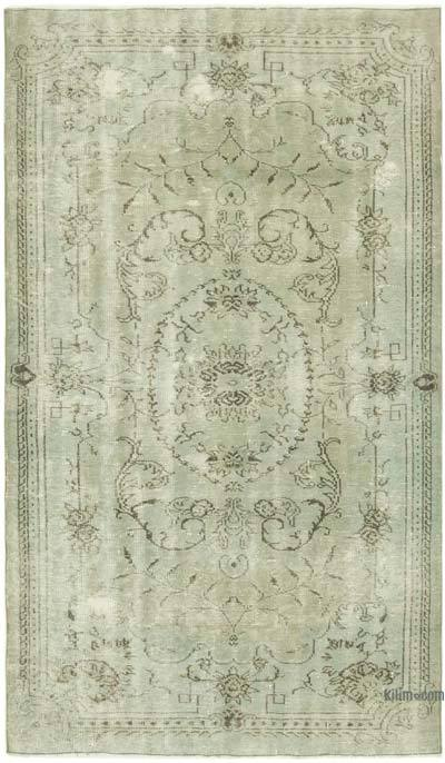 "Over-dyed Vintage Hand-knotted Turkish Rug - 4' 8"" x 7' 9"" (56 in. x 93 in.)"