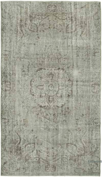 """Over-dyed Vintage Hand-knotted Turkish Rug - 5' 5"""" x 9' 4"""" (65 in. x 112 in.)"""