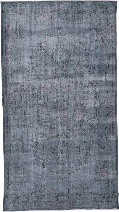 "Over-dyed Vintage Hand-knotted Turkish Rug - 5' 3"" x 9' 7"" (63 in. x 115 in.)"