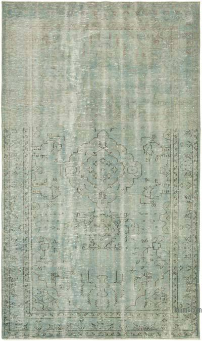 "Blue Over-dyed Turkish Vintage Rug - 5' 5"" x 9'  (65 in. x 108 in.)"
