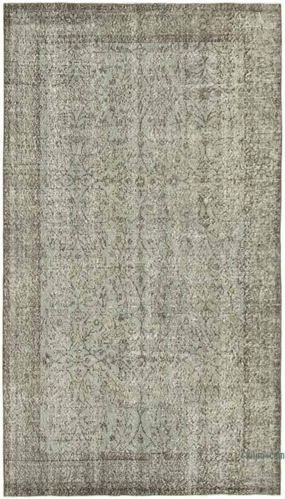 "Over-dyed Vintage Hand-knotted Turkish Rug - 5' 2"" x 9'  (62 in. x 108 in.)"