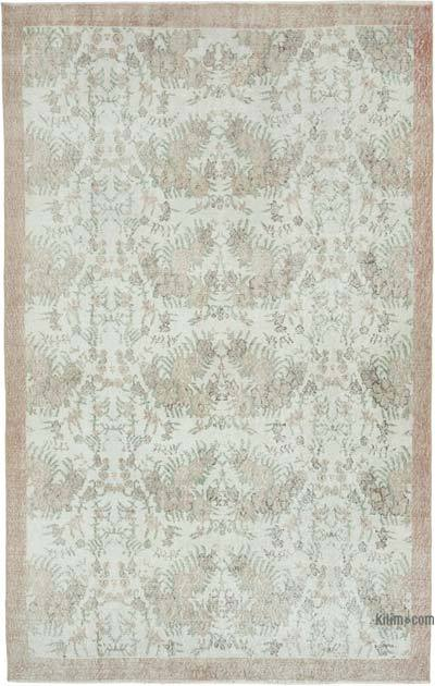"Vintage Turkish Hand-knotted Area Rug - 5' 8"" x 8' 10"" (68 in. x 106 in.)"