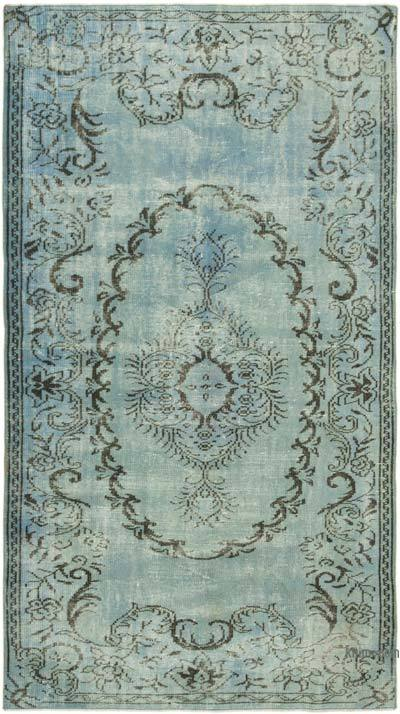 "Over-dyed Vintage Hand-knotted Turkish Rug - 4' 11"" x 8' 8"" (59 in. x 104 in.)"