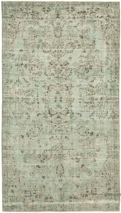 """Grey Over-dyed Vintage Hand-Knotted Turkish Rug - 5' 7"""" x 9' 9"""" (67 in. x 117 in.)"""