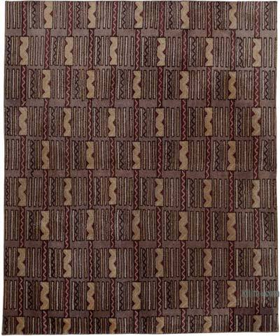 "Vintage Turkish Hand-knotted Area Rug - 5' 7"" x 6' 9"" (67 in. x 81 in.)"