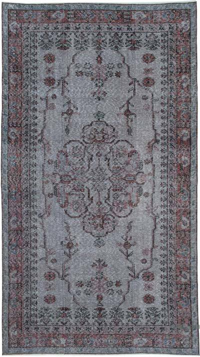 "Over-dyed Vintage Hand-knotted Turkish Rug - 4' 7"" x 8' 2"" (55 in. x 98 in.)"