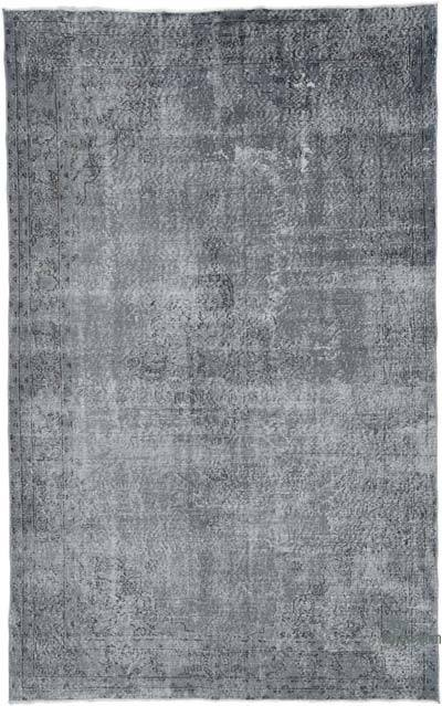 """Grey Over-dyed Vintage Hand-knotted Turkish Rug - 4' 11"""" x 8' 10"""" (59 in. x 106 in.)"""