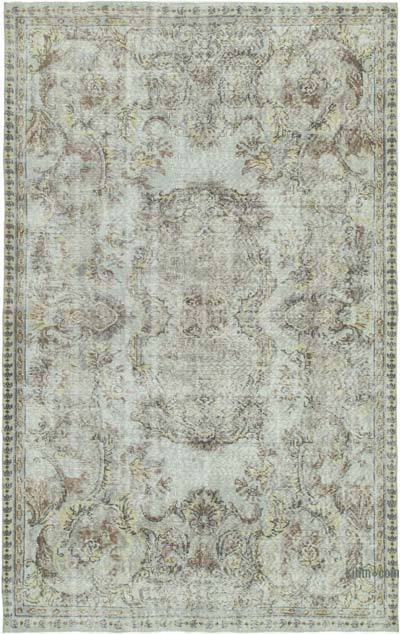 "Grey Over-dyed Turkish Vintage Rug - 5' 7"" x 8' 8"" (67 in. x 104 in.)"