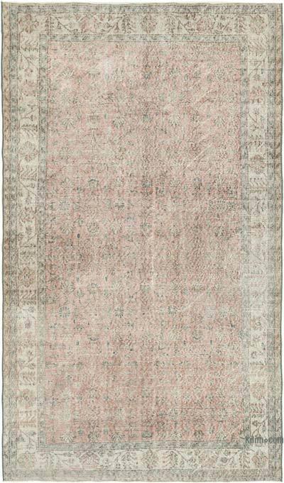 Gri Boyalı El Dokuma Anadolu Halısı - 161 cm x 285 cm