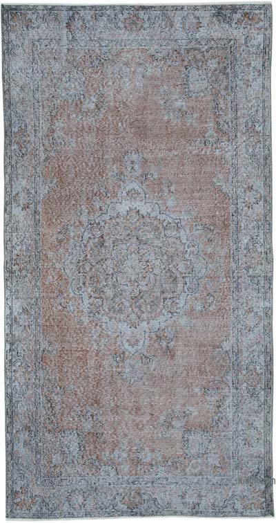 """Over-dyed Vintage Hand-knotted Turkish Rug - 4' 2"""" x 8'  (50 in. x 96 in.)"""