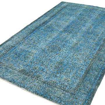 Over-dyed Vintage Hand-knotted Turkish Rug - 5' 2# x 8' 7# (62 in. x 103 in.) - K0049350