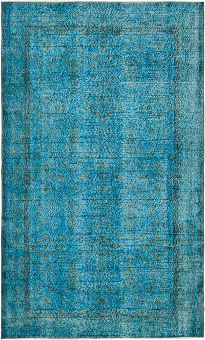 "Over-dyed Vintage Hand-knotted Turkish Rug - 5' 2"" x 8' 7"" (62 in. x 103 in.)"