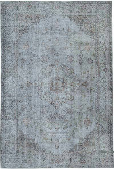 "Over-dyed Vintage Hand-knotted Turkish Rug - 5' 10"" x 8' 7"" (70 in. x 103 in.)"