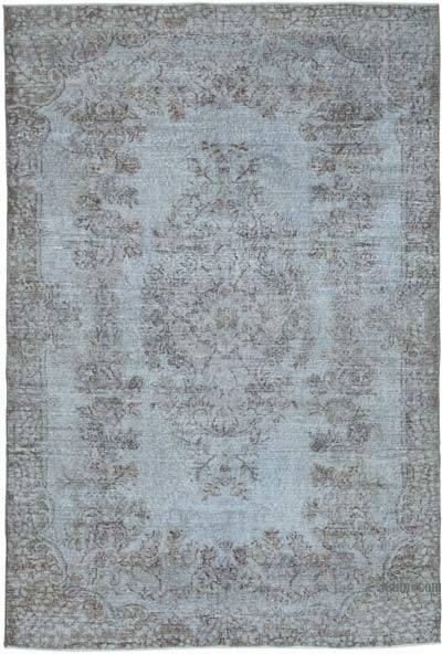 Alfombra Turca Vintage Sobre-teñida - 172 cm x 254 cm