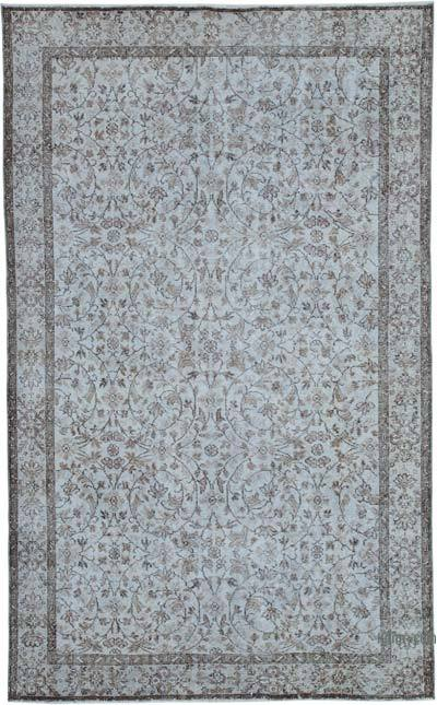 """Over-dyed Vintage Hand-knotted Turkish Rug - 5' 9"""" x 9' 3"""" (69 in. x 111 in.)"""