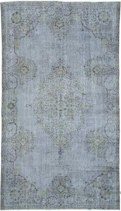 """Over-dyed Vintage Hand-knotted Turkish Rug - 5' 6"""" x 9' 8"""" (66 in. x 116 in.)"""