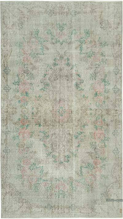 "Grey Over-dyed Vintage Hand-knotted Turkish Rug - 5'  x 8' 5"" (60 in. x 101 in.)"