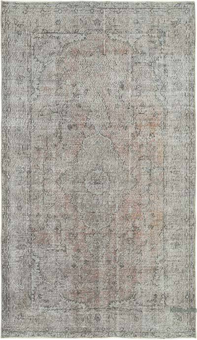 """Over-dyed Vintage Hand-knotted Turkish Rug - 5' 1"""" x 8' 8"""" (61 in. x 104 in.)"""