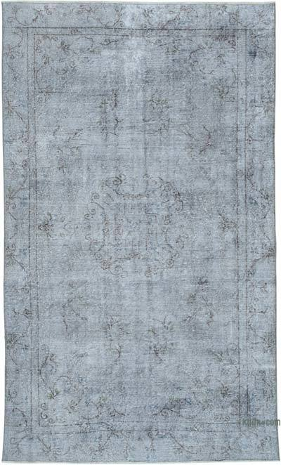 """Over-dyed Vintage Hand-knotted Turkish Rug - 5' 7"""" x 9' 4"""" (67 in. x 112 in.)"""