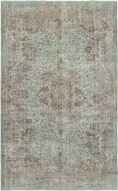 "Over-dyed Vintage Hand-knotted Turkish Rug - 5' 9"" x 9'  (69 in. x 108 in.)"