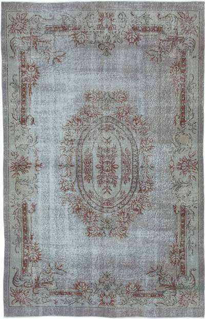 "Over-dyed Vintage Hand-knotted Turkish Rug - 5' 11"" x 9' 6"" (71 in. x 114 in.)"