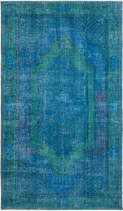 "Over-dyed Vintage Hand-knotted Turkish Rug - 5' 9"" x 9' 9"" (69 in. x 117 in.)"