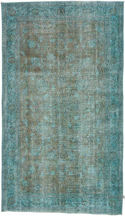 """Over-dyed Vintage Hand-knotted Turkish Rug - 4' 9"""" x 8' 2"""" (57 in. x 98 in.)"""
