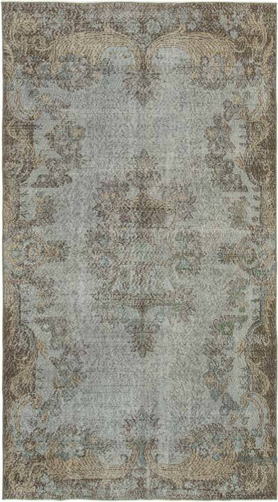 """Over-dyed Vintage Hand-knotted Turkish Rug - 5' 3"""" x 9' 2"""" (63 in. x 110 in.)"""