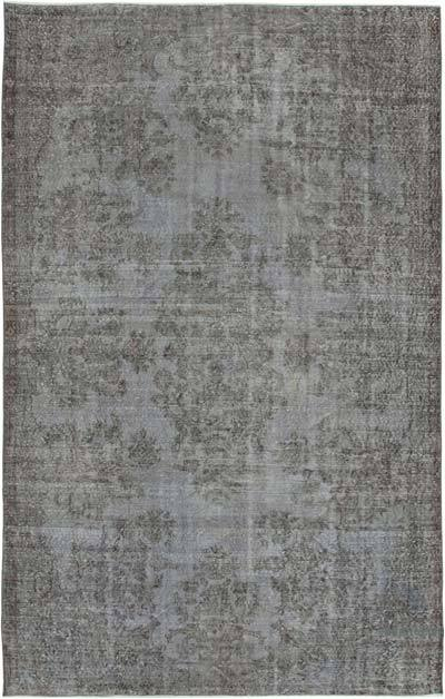 "Over-dyed Vintage Hand-knotted Turkish Rug - 6' 3"" x 9' 6"" (75 in. x 114 in.)"