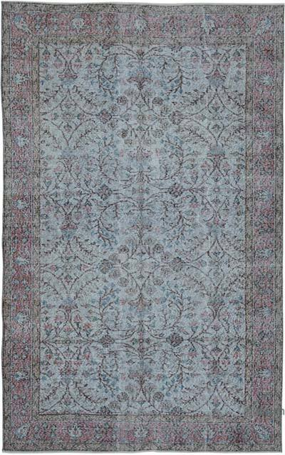 """Over-dyed Vintage Hand-knotted Turkish Rug - 5' 5"""" x 8' 6"""" (65 in. x 102 in.)"""