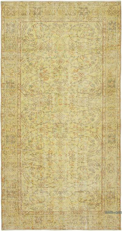 "Over-dyed Vintage Hand-knotted Turkish Rug - 4' 5"" x 8' 3"" (53 in. x 99 in.)"