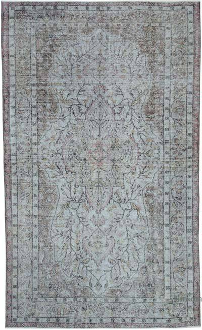 "Over-dyed Vintage Hand-knotted Turkish Rug - 5' 4"" x 8' 10"" (64 in. x 106 in.)"