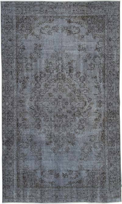 "Over-dyed Vintage Hand-knotted Turkish Rug - 5' 1"" x 8' 6"" (61 in. x 102 in.)"
