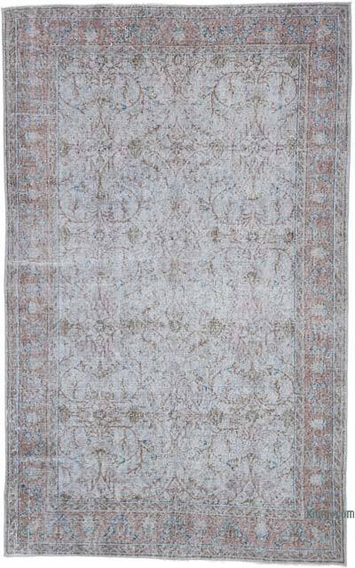 """Over-dyed Vintage Hand-knotted Turkish Rug - 5' 5"""" x 8' 8"""" (65 in. x 104 in.)"""