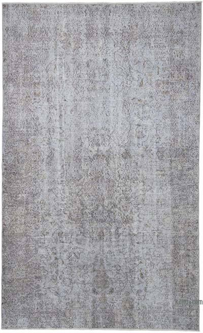 """Grey Over-dyed Vintage Hand-knotted Turkish Rug - 5' 4"""" x 8' 8"""" (64 in. x 104 in.)"""