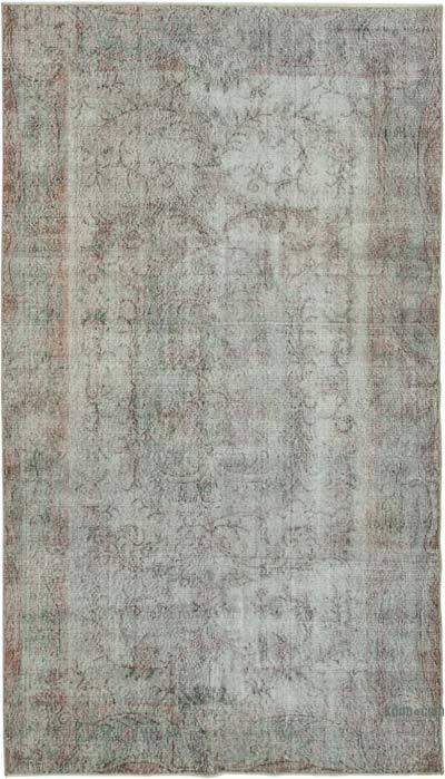 Gri Boyalı El Dokuma Anadolu Halısı - 145 cm x 250 cm