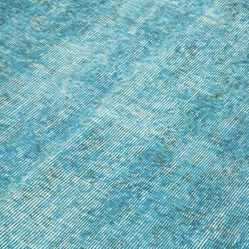 """Aqua Over-dyed Vintage Hand-Knotted Turkish Rug - 5' 3"""" x 8' 5"""" (63 in. x 101 in.) - K0049418"""
