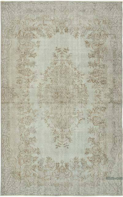 """Over-dyed Vintage Hand-knotted Turkish Rug - 5' 9"""" x 9' 1"""" (69 in. x 109 in.)"""