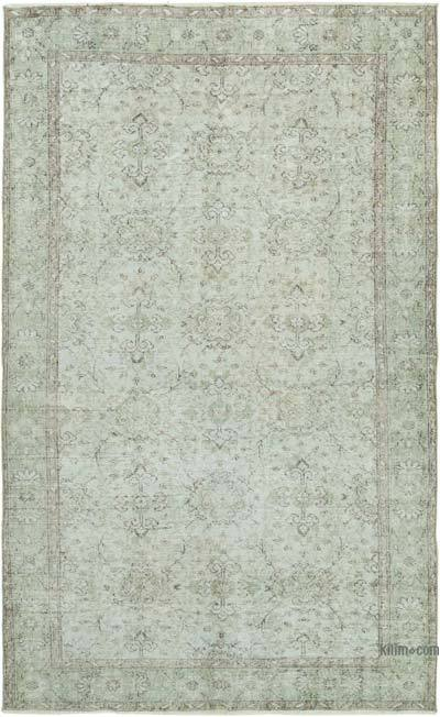 "Grey Over-dyed Vintage Hand-knotted Turkish Rug - 5' 6"" x 8' 10"" (66 in. x 106 in.)"