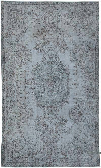 "Over-dyed Vintage Hand-knotted Turkish Rug - 5' 10"" x 9' 8"" (70 in. x 116 in.)"