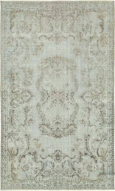 """Over-dyed Vintage Hand-knotted Turkish Rug - 5' 5"""" x 8' 10"""" (65 in. x 106 in.)"""