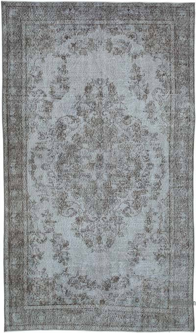 "Over-dyed Vintage Hand-knotted Turkish Rug - 5' 9"" x 9' 8"" (69 in. x 116 in.)"