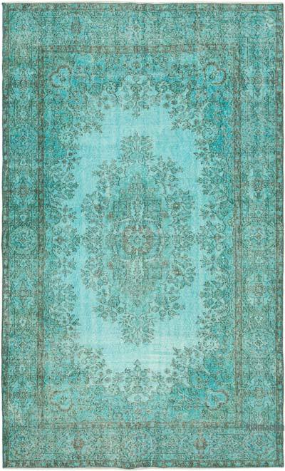 """Over-dyed Vintage Hand-Knotted Turkish Rug - 5' 8"""" x 9' 1"""" (68 in. x 109 in.)"""